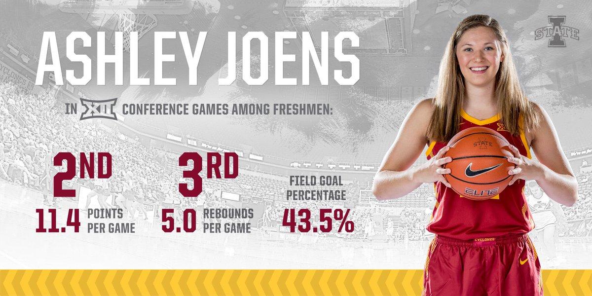 .@ashleyjoens has been 💪 in Big 12 play this season.   #MadeForThis
