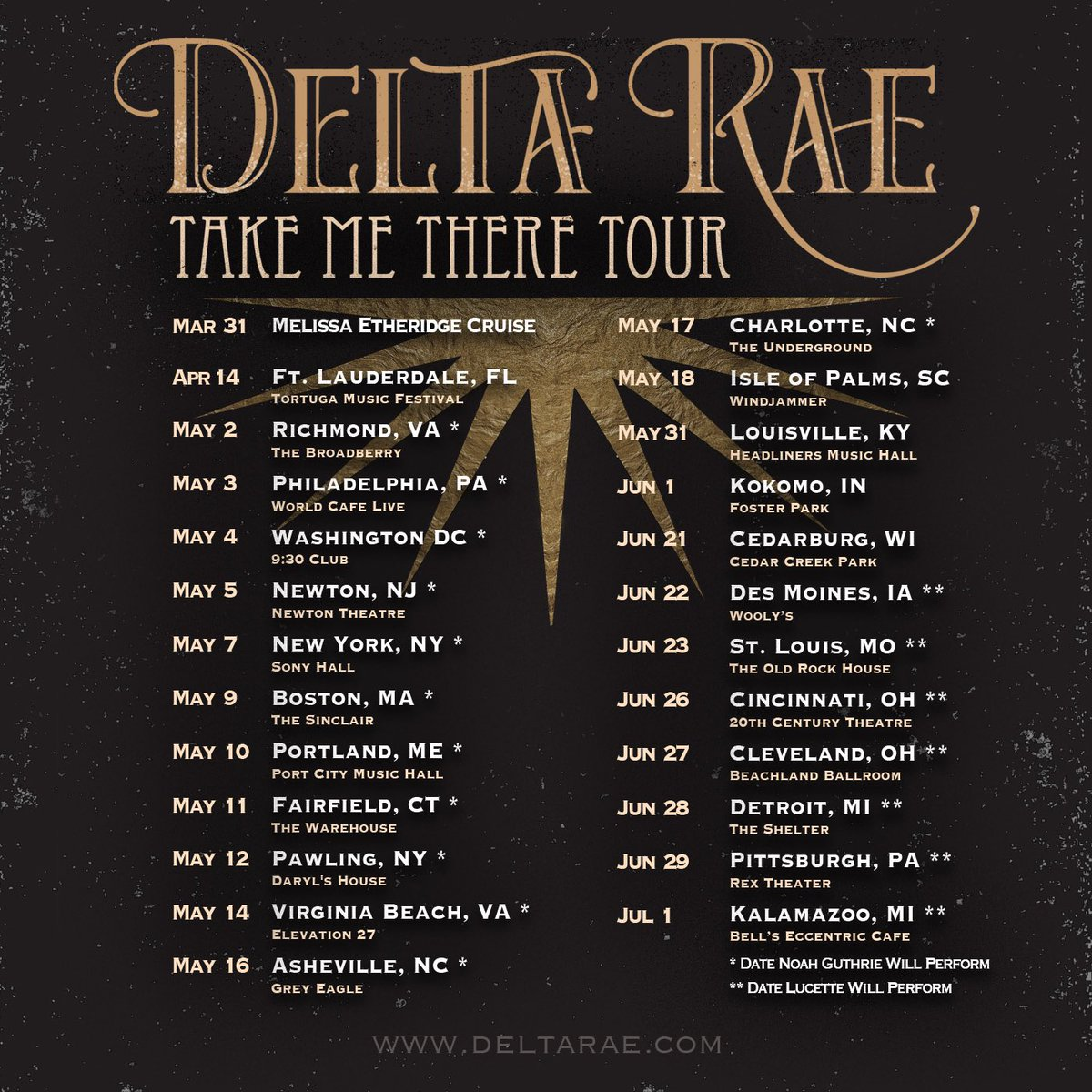 Delta Rae On Twitter Tickets For The New Take Me There Tour Dates Are On Sale Now So Excited To Have Only1noah And Lucettesings Join Us On The Road More Dates Tba