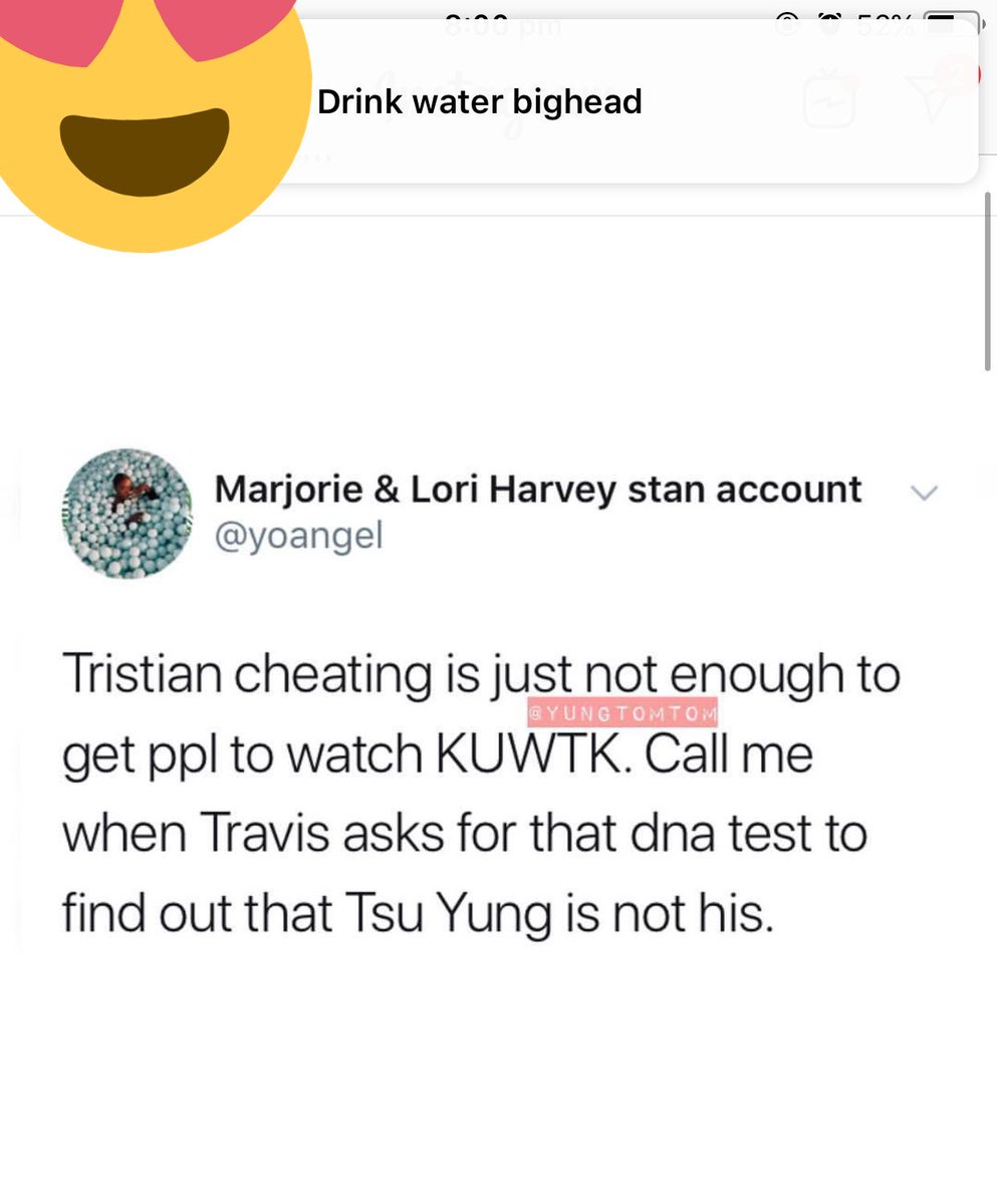 I was getting a lovely message from my boyfriend since I'm sick then i come across this, this is better than any tweet about khloe and jordyn  IM FUCKING SCREAMING why they gotta do travis like that