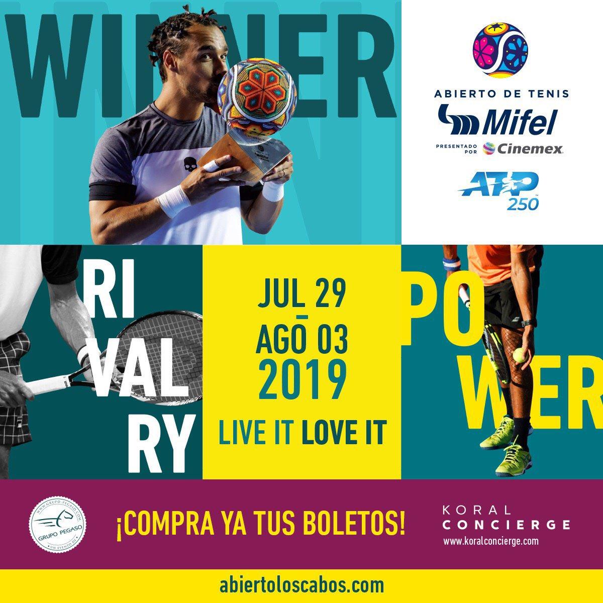 ¡Hola, 2019! ¡Hola, @ATP_Tour ! #ATC2019 🎾🌵☀️🌊🇲🇽