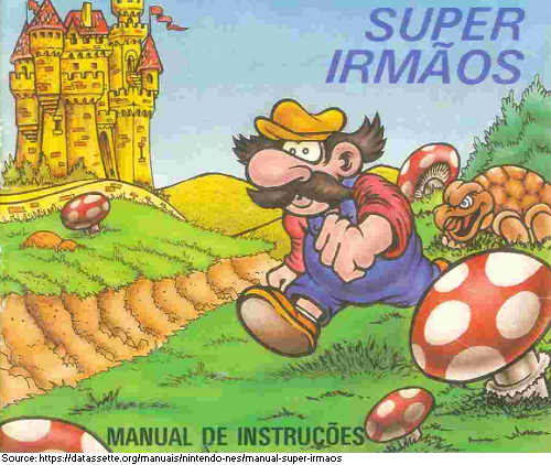 Supper Mario Broth On Twitter Artwork From The Cover Of The Manual For Super Irmaos Portuguese For Super Brothers An Unlicensed Distribution Of Super Mario Bros From Brazil Https T Co Ukiayuqm3r