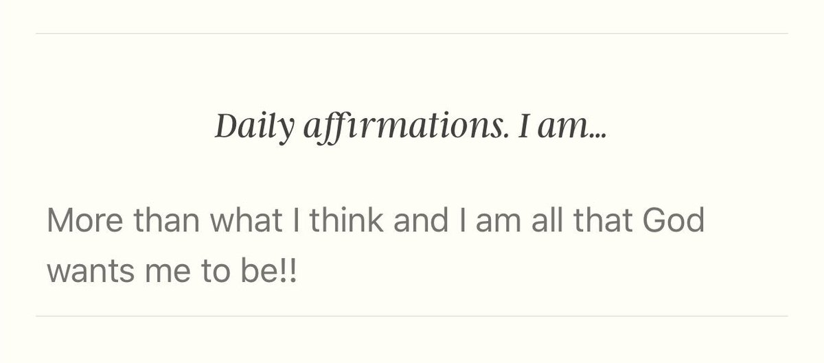 Today's affirmation!!