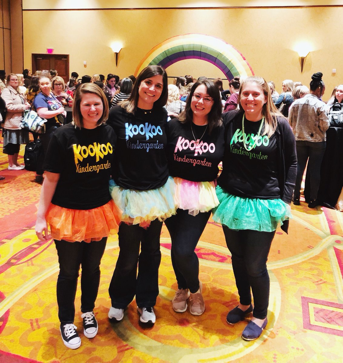 Tutus for @KooKooKangaRoo and koo koo for kindergarten!  Our Texas K conference this week was so much fun! #SDEevents #fosterjoyfullearning <br>http://pic.twitter.com/F8xpazfiRd