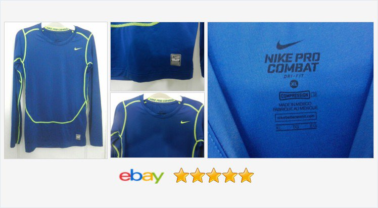 4b20879b Nike Pro Combat Athletic Dri-fit Compression Long Sleeve Shirt Youth Size  XL | eBay #nike #baselayertop #sports #parents #fridayfeeling #snowday  #retweet ...