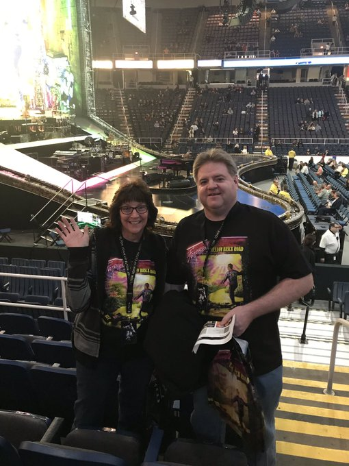 So excited for Elton John s concert!! Happy birthday to my mother-in-law Brenda!!