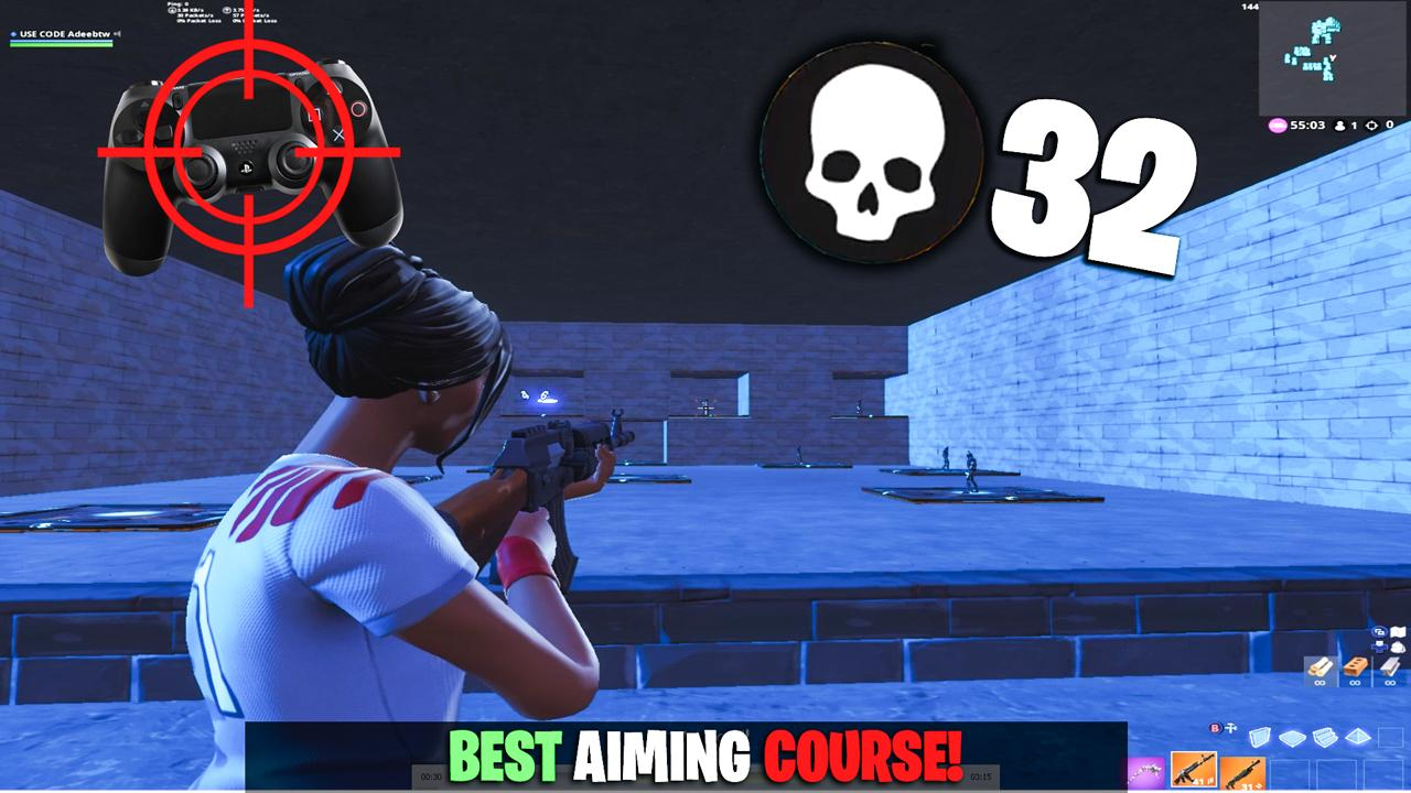 console aim course with aim assist - how to use aim assist fortnite