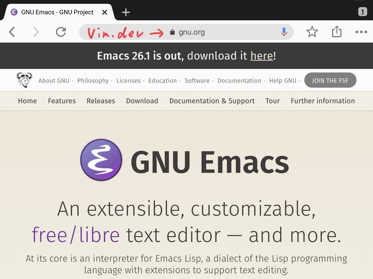Emacs 26 Download