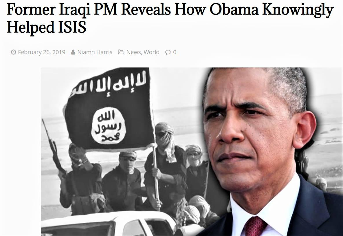 74eeadabd ... Barack #Obama had played a key role in the creation of #ISIS by  allowing them to overrun #Iraqi territories #Iraq #Syriapic.twitter .com/GXSonS9N7p