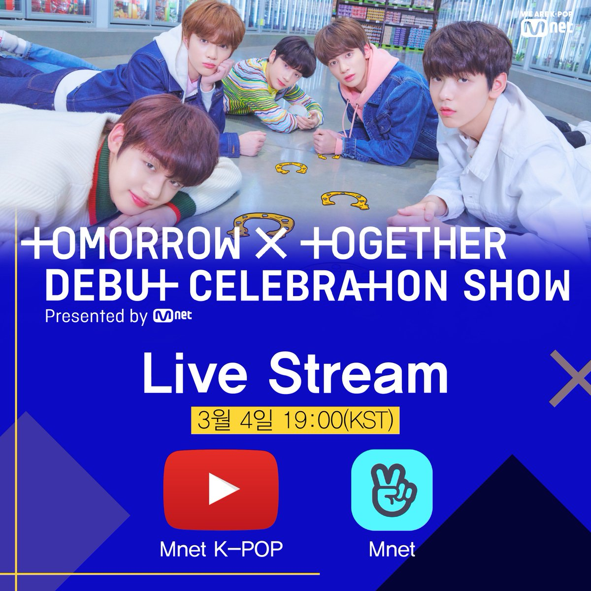 818009047bf3c   TOMORROW X TOGETHER Debut Celebration Show Presented by Mnet  LIVE STREAM  INFORMATION Youtube  Mnet