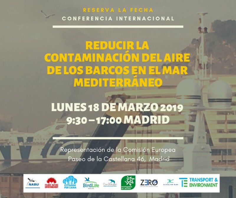 """test Twitter Media - Conferencia Internacional """"REDUCIR LA CONTAMINACIÓN DEL AIRE DE LOS BARCOS EN EL MAR MEDITERRÁNEO"""".  📌 18 de marzo 2019, #Madrid. ☀️ ¡No te las pierdas!. Coge tu agenda. Abrimos inscripciones. Entrada gratuita. Programa e inscripciones aquí 👉 https://t.co/py1UeP4pch #MedECA https://t.co/FTws3r1tju"""