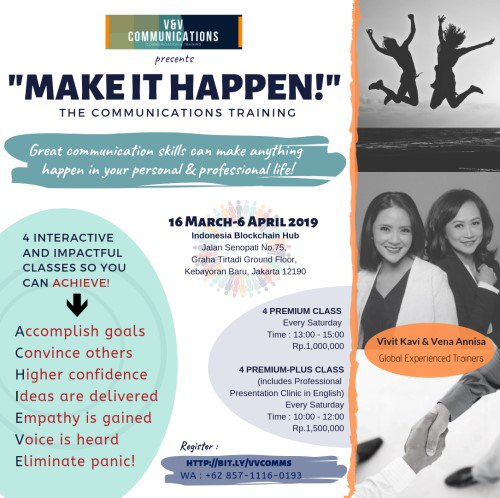 Make It Happen >> Event Jakarta On Twitter The Communications Training Make