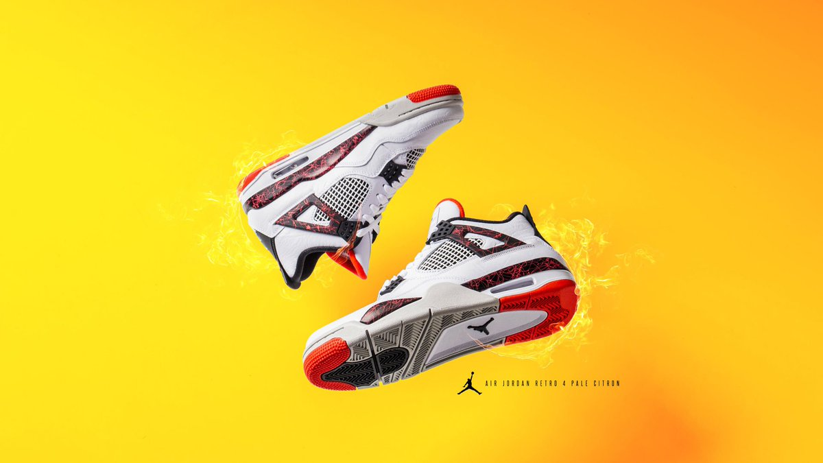 air jordan retro 4 pale citron mens lifestyle shoe white black bright  crimson red pale citron e97573226