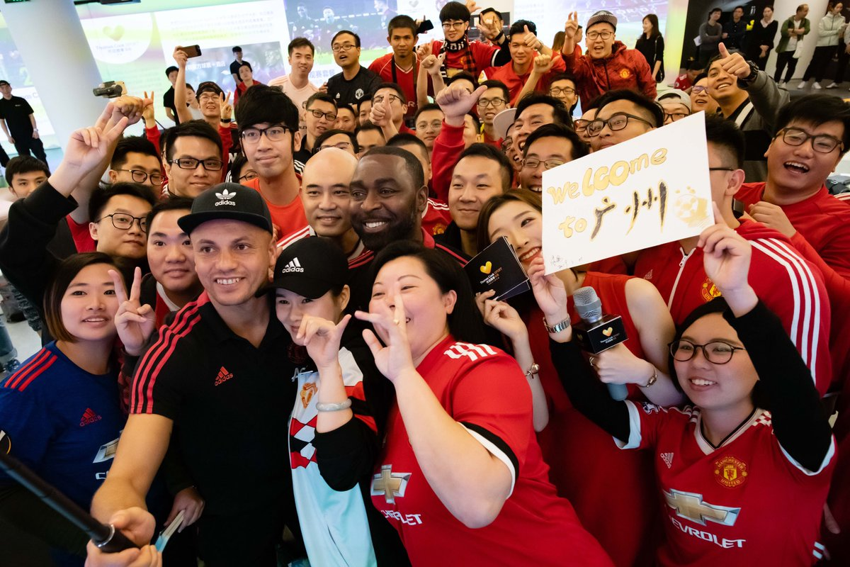 👋 A warm welcome from our fans in Guangzhou ahead of today's game! #ILOVEUNITED