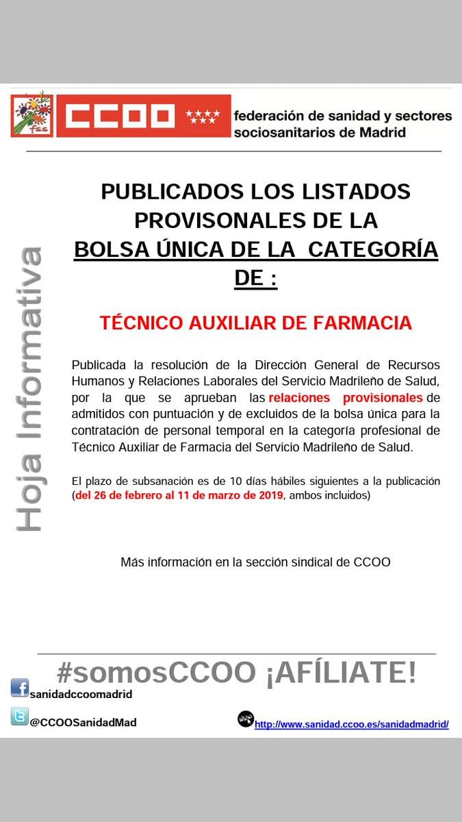 Sanidad On Ccoo Madrid Twitter KJcuF3lT1