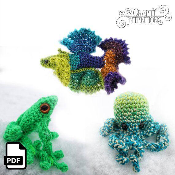 Miniature Crochet Red Eyed Tree Frog Amigurumi Frog Made | Etsy | 570x570