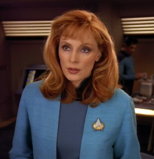 Happy birthday to Gates McFadden, who played Beverly Crusher in six seasons of The Next Generation.