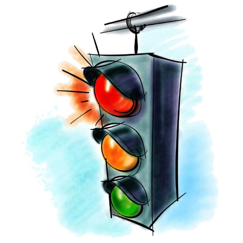 рисунки светофоров наука версия данной