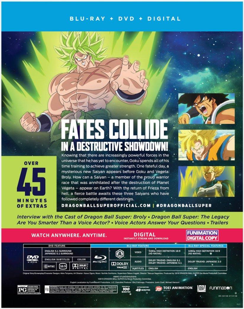 Wtk On Twitter Dragon Ball Super Broly Blu Ray Dvd April 16