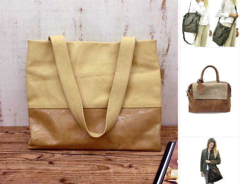 71a6791123 Sale!!! Yellow Leather bag Leather tote bag  bagsandpurses  EtsyMktgTool  https