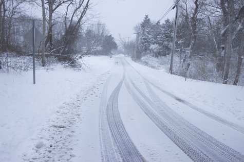 Driving conditions treacherous. DPW  out sanding and plowing. Stay off roads as much as possible. More snow tomorrow night ... follow local forecast information.