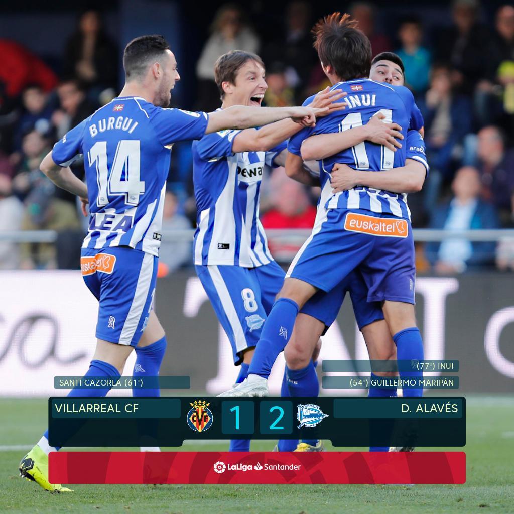 Liga : Alavés s'impose à Villarreal