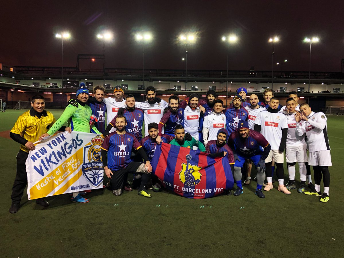 Congrats to @FCBarcelona_NYC for taking the 1st NYC MINI CLÁSICO. We are proud of what happened in our city last night. All for the love of the beautiful game. Thank you @u90soccer @futbolmahou @EstrellaDammEs! #ElClasicoNYC