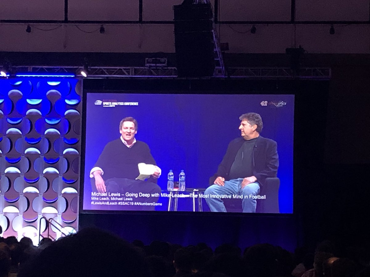 """""""All the best characters don't realize they're characters."""" — Michael Lewis about Mike Leach, who is definitely proving that to be true. #SSAC19"""
