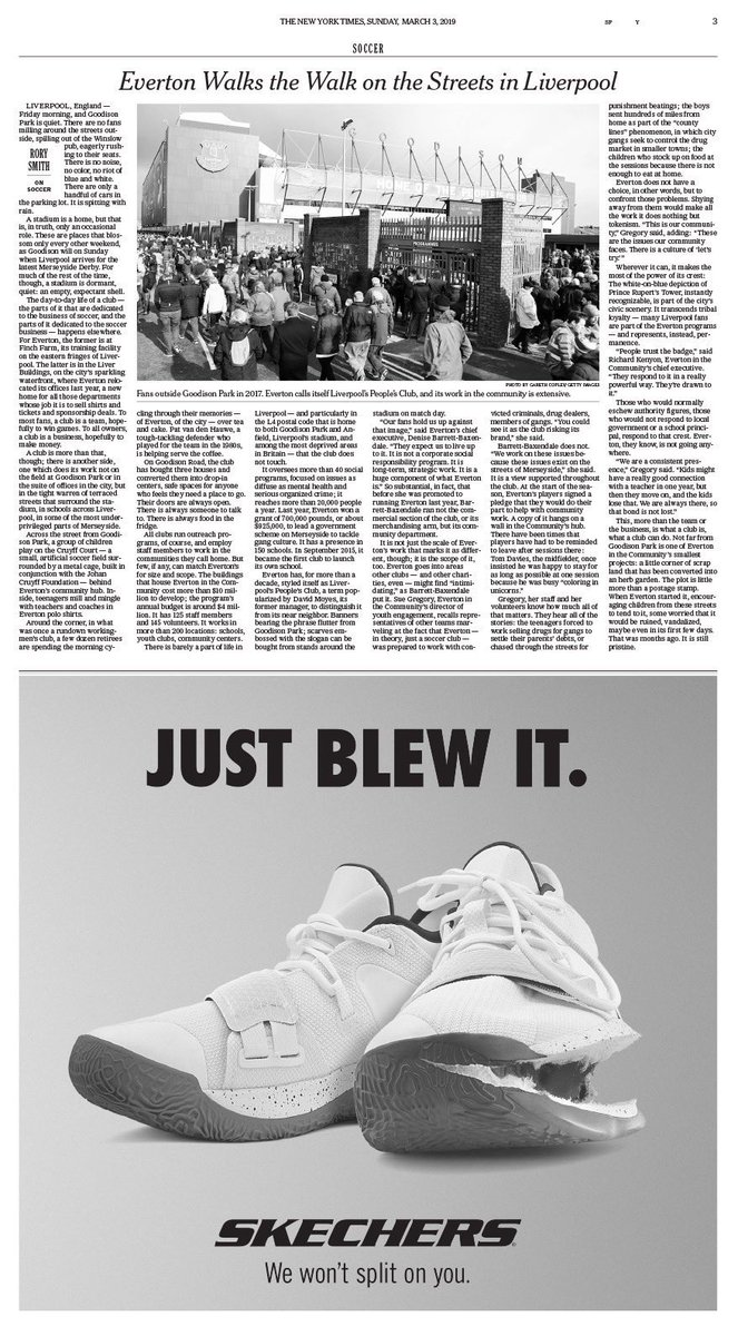 B R Kicks On Twitter Skechers Is Running Ads On Instagram And In The New York Times Tomorrow Calling Out Nike For Zion Williamson S Ripped Shoes Https T Co V2vswna1mh