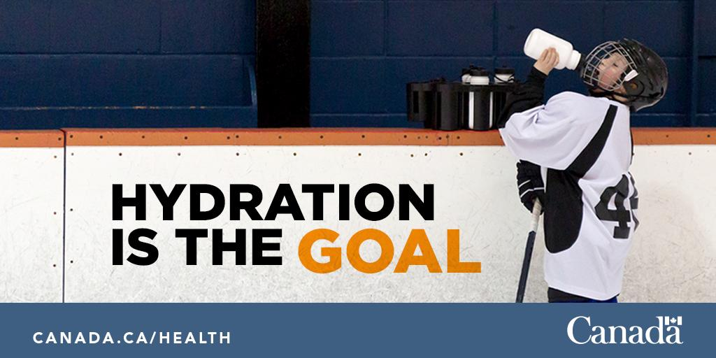 Image result for hockey kid drink water