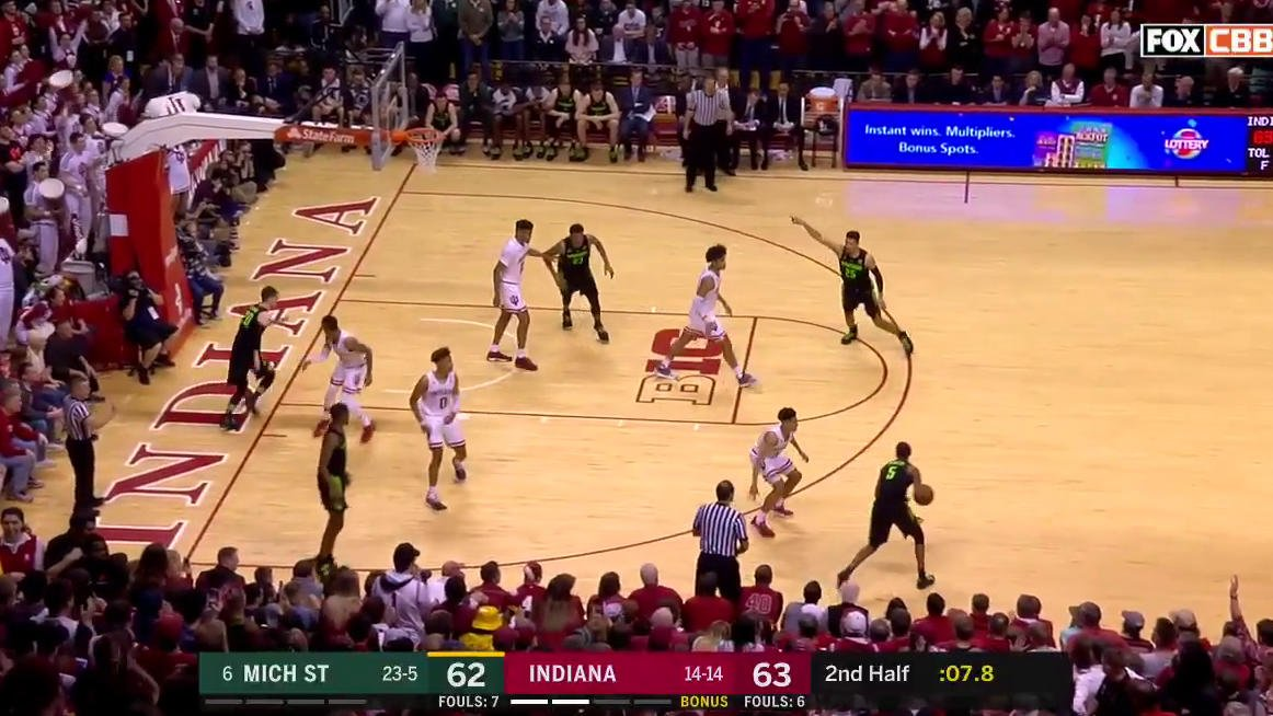 Court storm in Assembly Hall! 🔥 @IndianaMBB