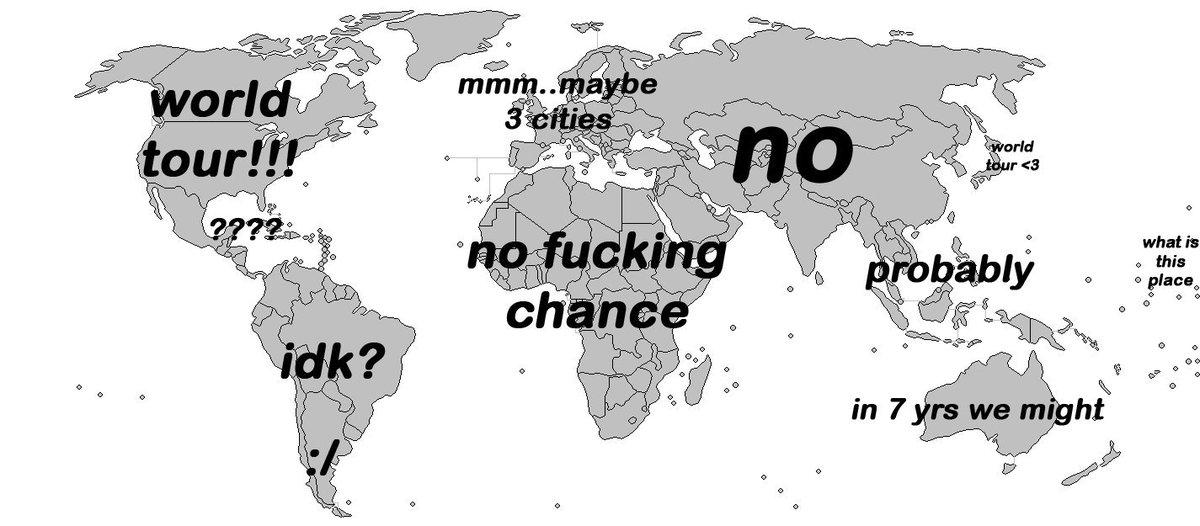 When a band announces a world tour