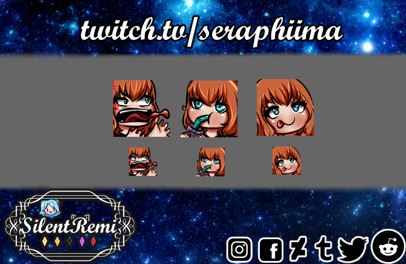 On the 2nd batch of emotes commissions we have the following