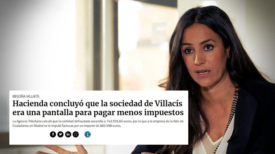 Begoña Villacís, candidata de Ciudadanos para el Ayto. de Madrid, sigue sin dimitir. Si los medios callan, tú no lo hagas. RT. #L6Nprecampaña
