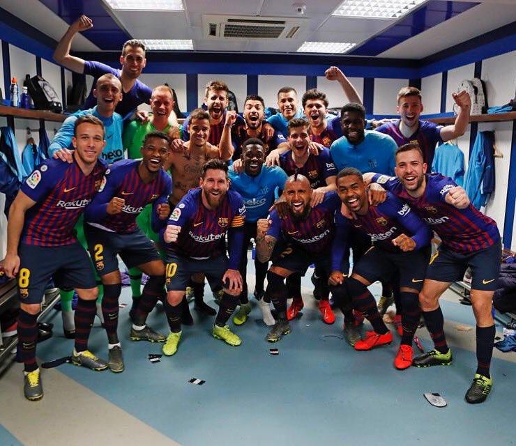 Vamooooooos!! 2a victoria esta semana en el Bernabeu!!! Enorme equipo!!! FORÇA BARÇA !!!! 🔵🔴