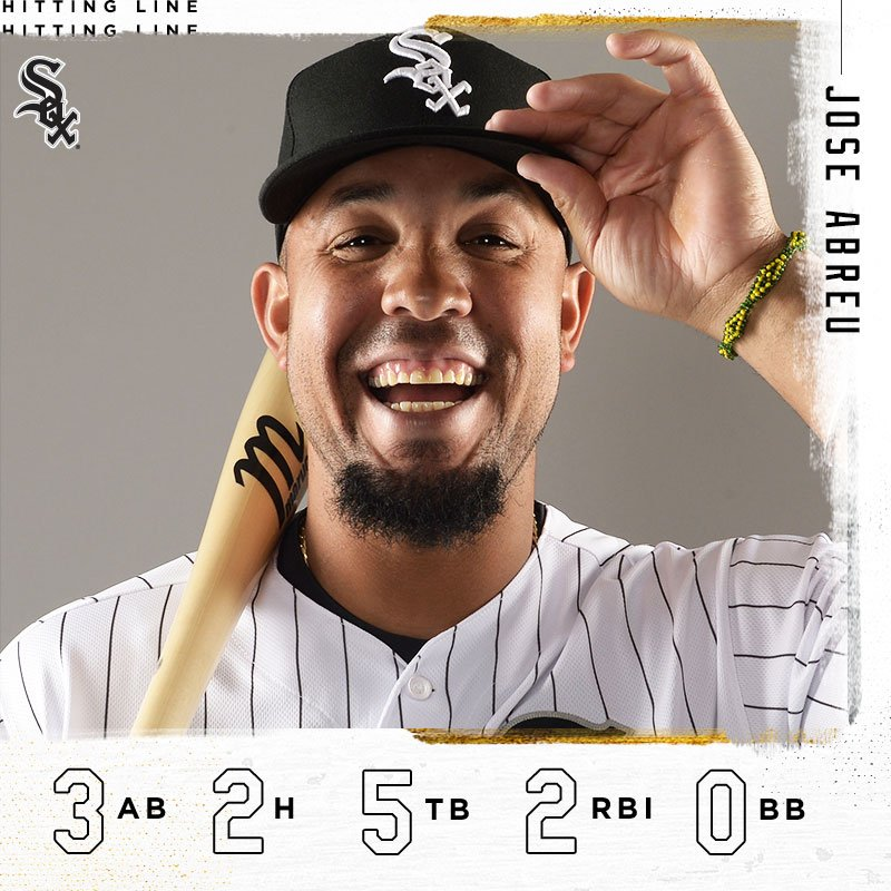A nice day at the plate... Seven #WhiteSox  starters had a hit in today&#39;s win, led by José, TA and Jay.  #SoxSpringTraining <br>http://pic.twitter.com/jffuyVGQRP