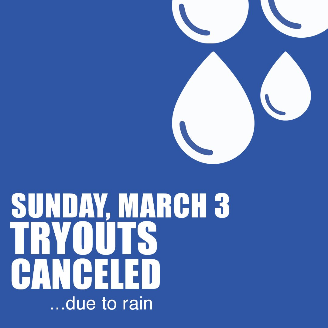 LA SURF   TRYOUTS  Tryouts on Sunday, March 3 will be canceled due to rain. Please, come and join us on Monday, March 4. Visit our website to register and find all the tryout dates & times. http://www.lasurfsoccer.com/tryouts