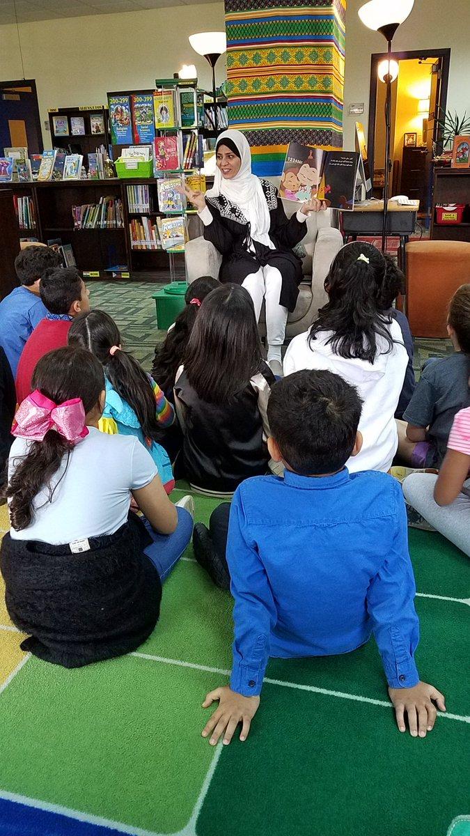 @GESatKAUST Gr8 kickoff to International Week 2019. Guest reader/author Rima Alkurdi reading Mishmisha and the Naughty Sheep  #tkspyp #tksgrade3 #rimaalkurdi