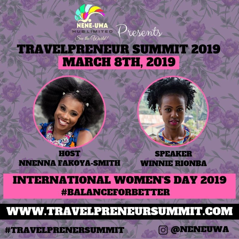 10 African women will be  talking everything travel on the 8th of March. I'm not only excited to be one of the speakers at this one day online conference but also because I get to listen to these women that are shaping the travel space in Africa