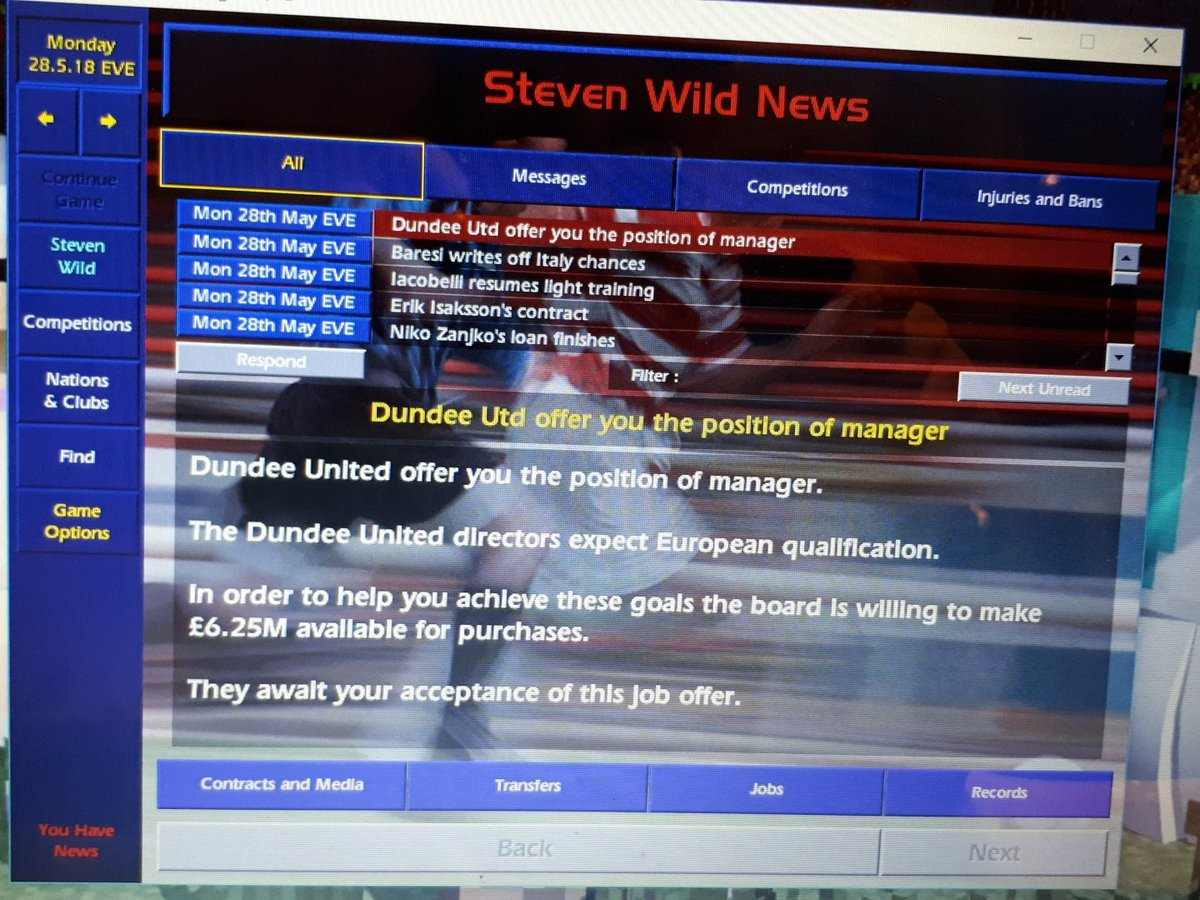 First application following winning the title in Italy.  Should I go for it or wait for something better? #journeyman