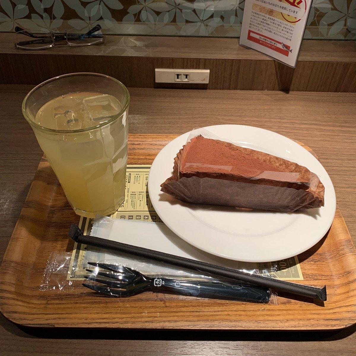 やば珈琲店(ジュース・チョコレートケーキ)