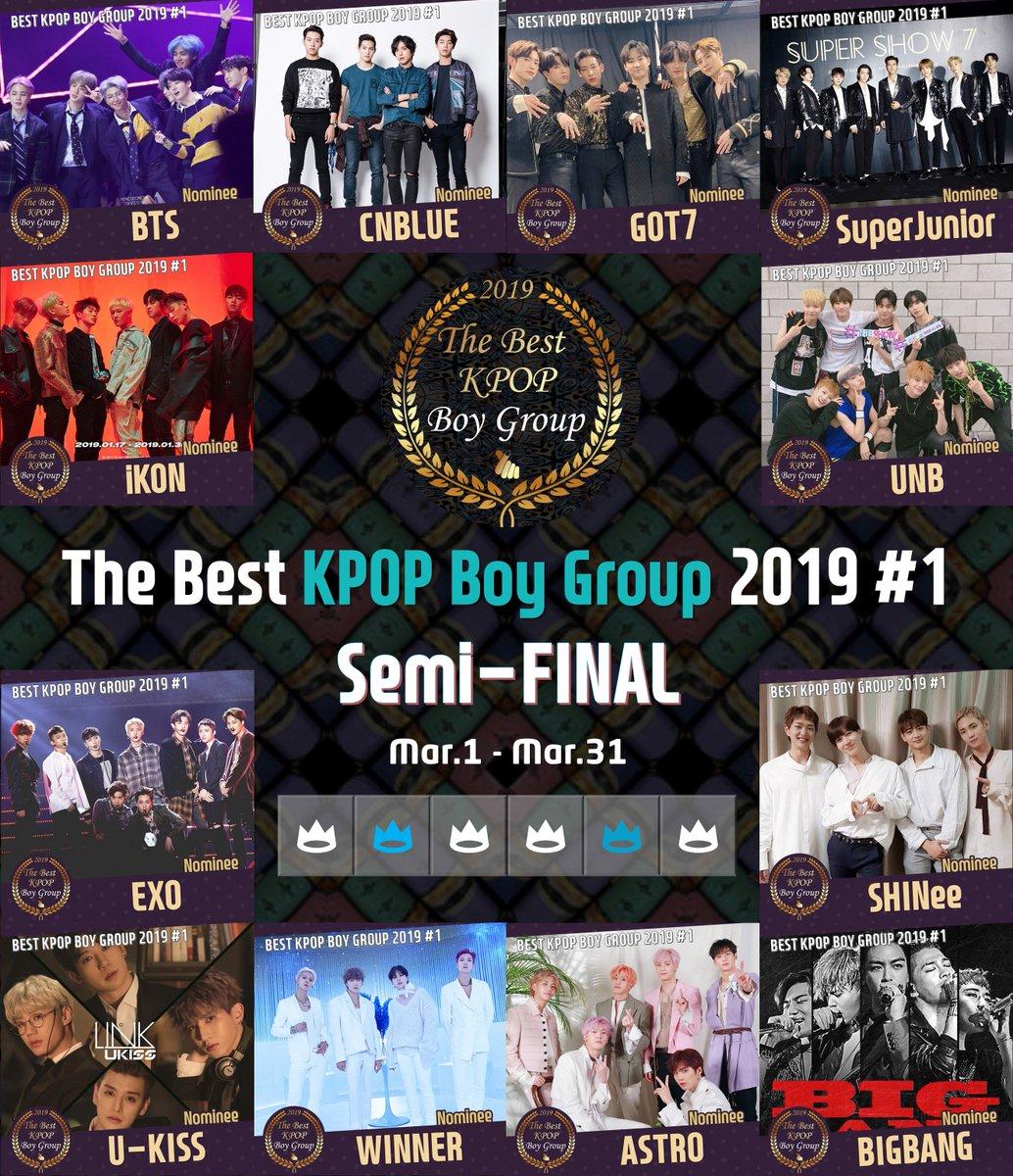 🏆Best KPOP Boy Group 2019 #1 📅 Semi-Final : Mar 1~Mar 31,2019