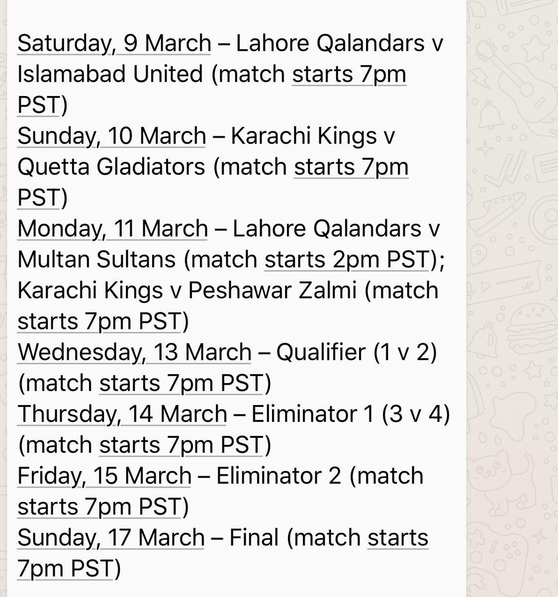 Pakistan Super League last 8 matches will be played in National Stadium, Karachi. #HBLPSL #HBLPSL2019 #KhelDeewanoKa https://t.co/t73kluGjB3