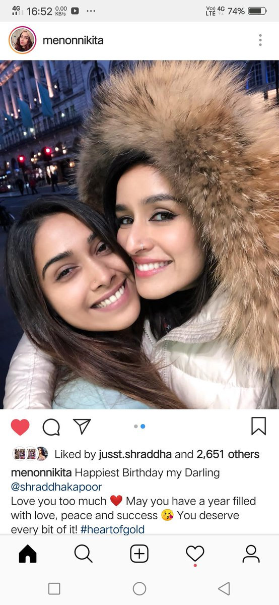 Birthday wish from #NikitaMenon 😘💖 @ShraddhaKapoor #HappyBirthdayShraddhaKapoor