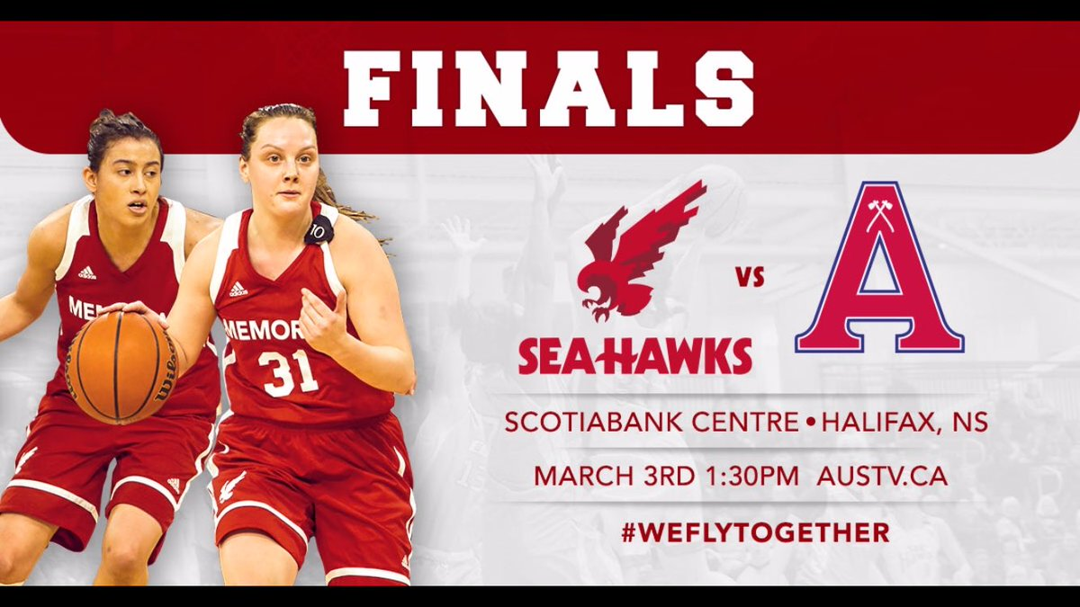WBB | It's GAMEDAY! The Sea-Hawks take on the Acadia Axewomen in the @AUS_SUA Championship Game today at 1:30PM NST. You can tune in live at http://AUStv.ca . #WeFlyTogether #GoHawks