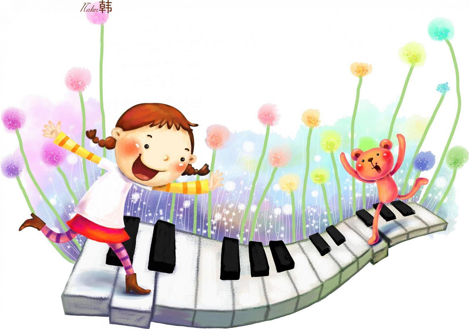 Надписью, музыкальные картинки детям