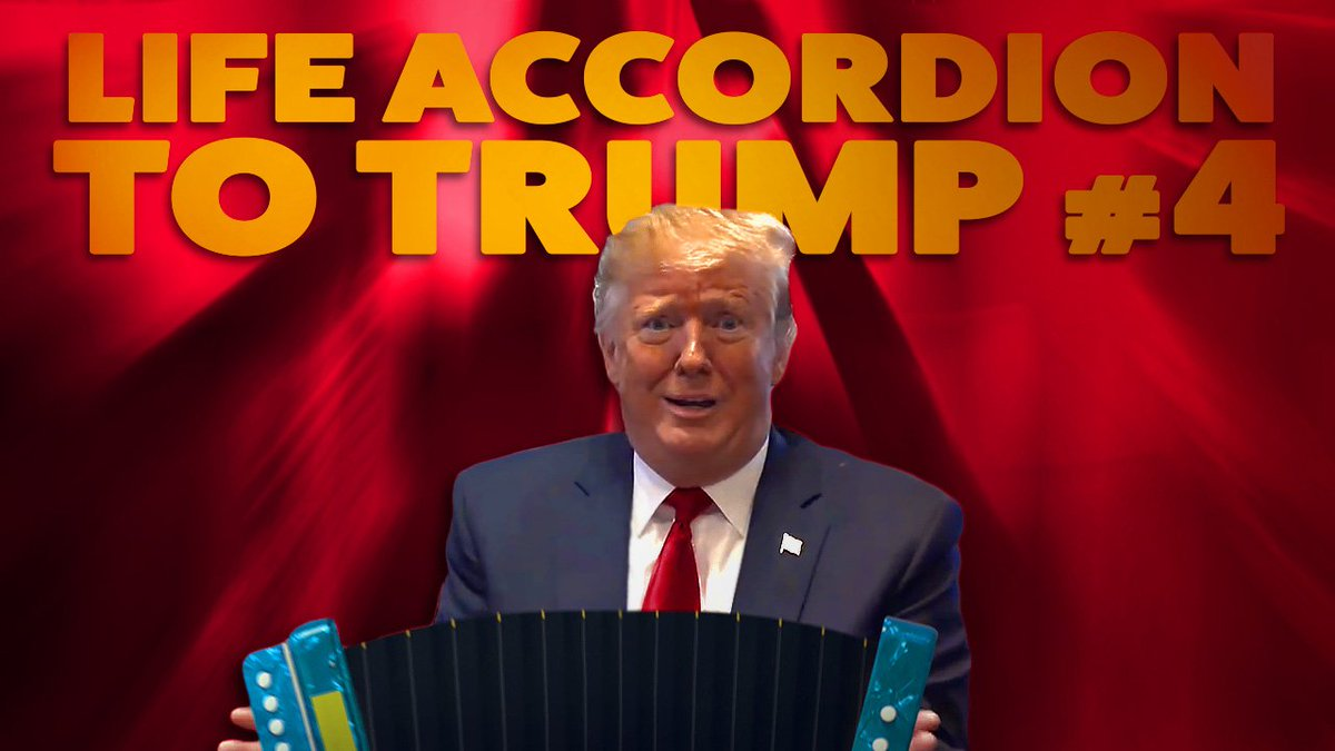 LIFE ACCORDION TO TRUMP #4 Send your loved ones some soothing tunes.
