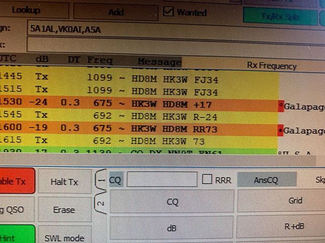 HD8M Galapagos Is 160Mts Band FT8 mode New one #hd8m #ft8 #160mts