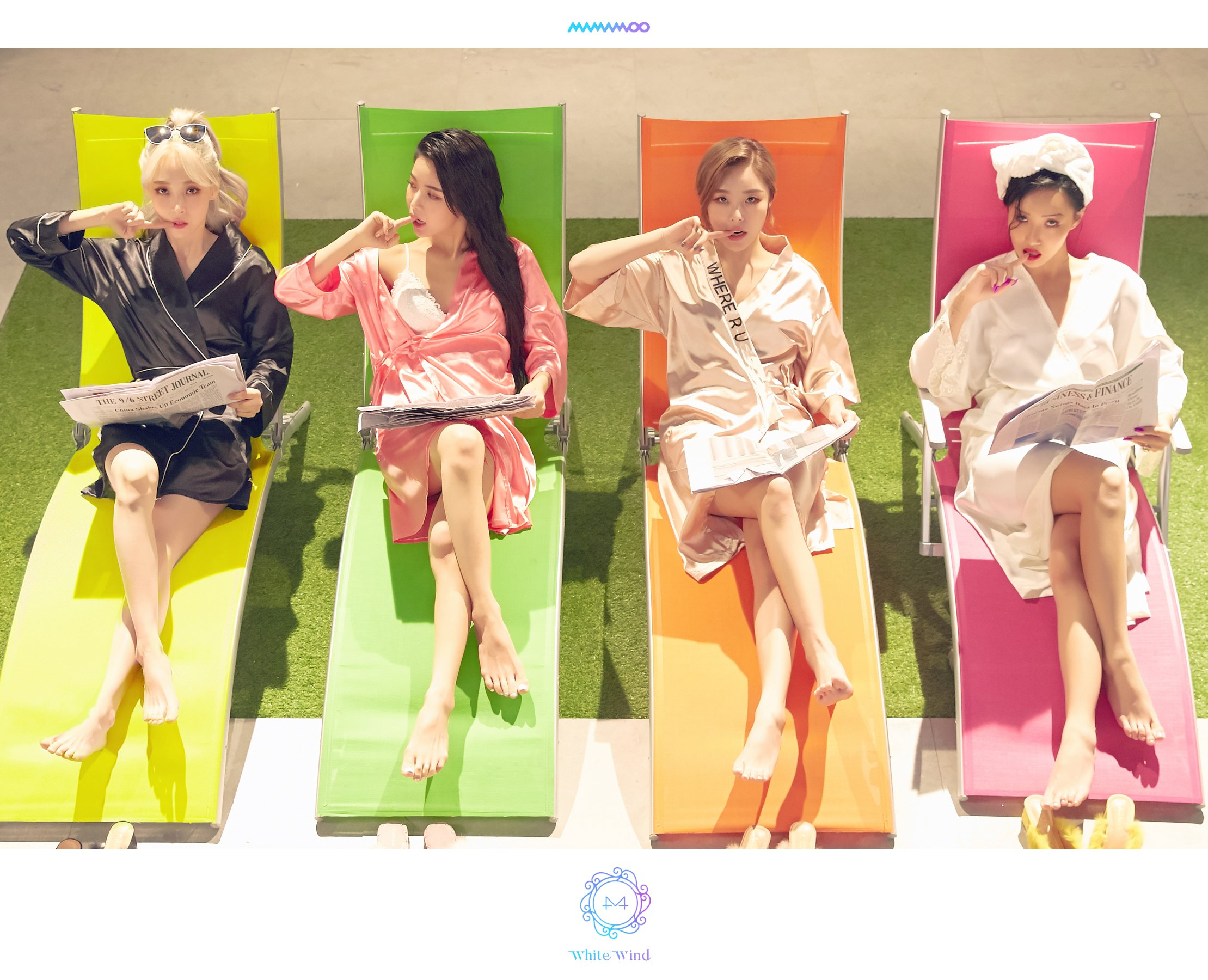 Concept] MAMAMOO - 'WHITE WIND' Group Concept Photo - Celebrity