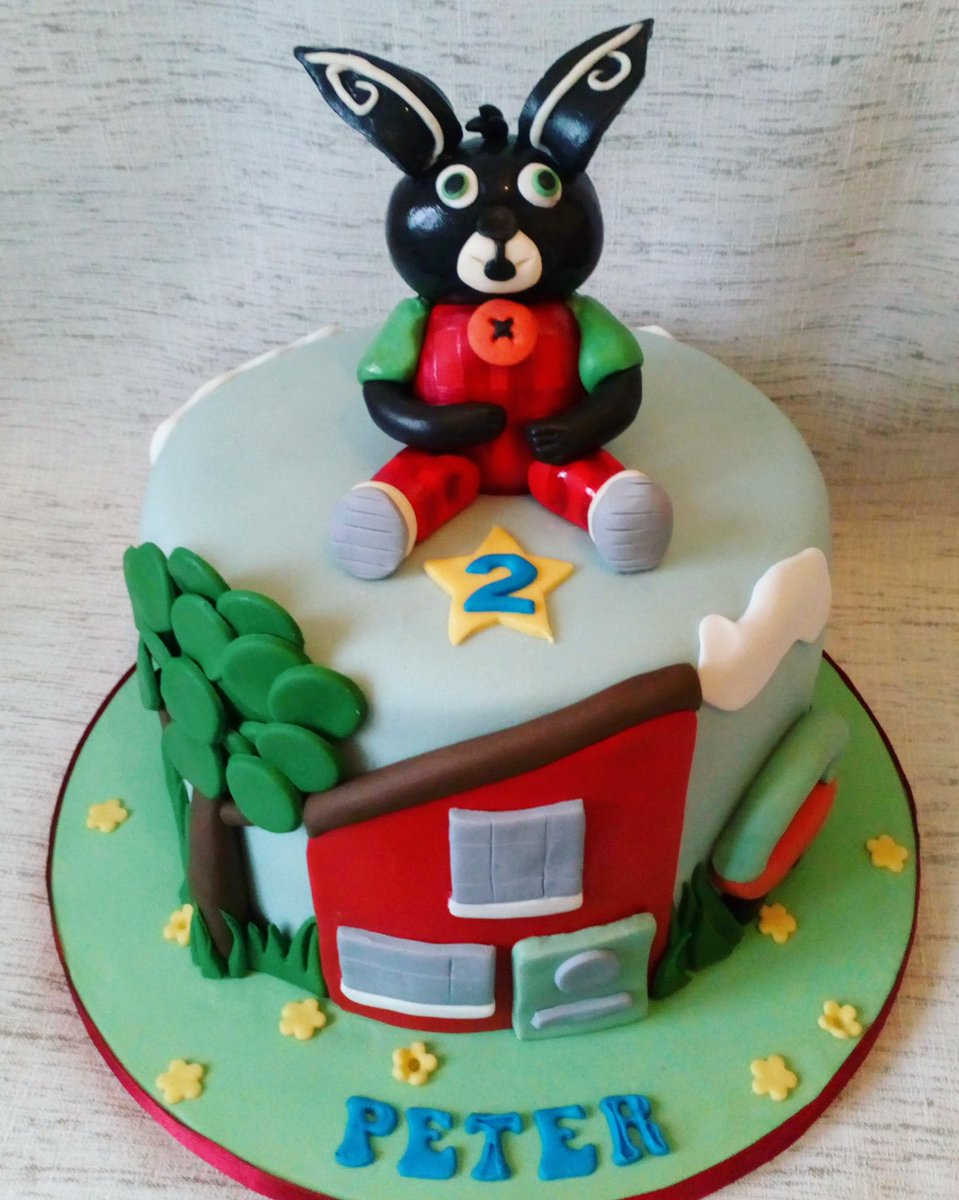 Bing The Bunny Birthdaycake For Peter Yesterday Happy 2nd Birthday Little Man
