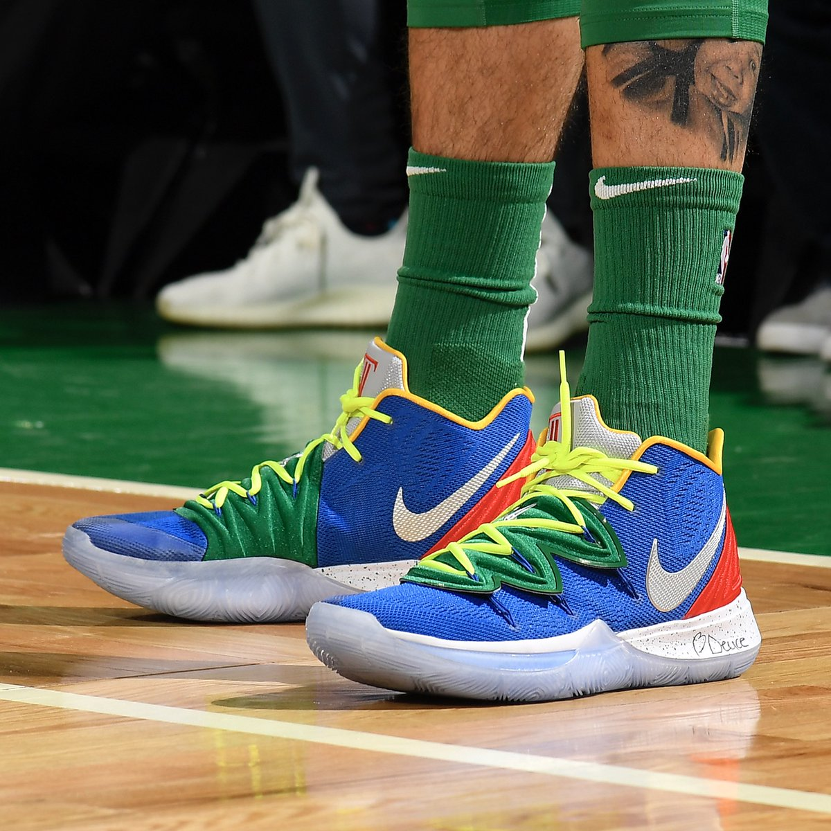 8c65b20d3b27 duke boyz and celtics teammates kyrieirving and jaytatum0 rocking nike  kyrie 5 today babsphoto